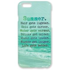Summer Case for iPhone 6 ($15) ❤ liked on Polyvore featuring accessories, tech accessories e no color
