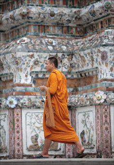 Visiting Wat Arun . Bangkok, Thailand