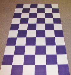 Custom checker flag aisle runner for a NASCAR driver's wedding.  www.originalrunners.com