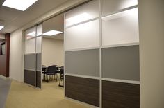 GLIDE, LOFTwall's sliding room divider, serves a convenient and functional space solution. Call us 214-239-3162.