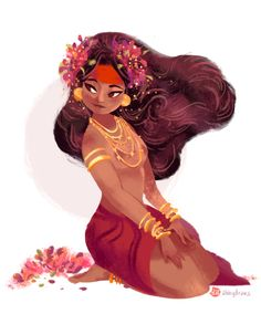 another take of Dian Masalanta, Tagalog Goddess of Love (Philippines) channeling Anette Marnat's style this time.