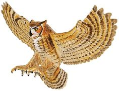 Wild Safari Great Horned Owl at theBIGzoo.com, a toy store with over 12,000 products.