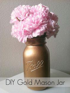 create: DIY Gold Mason Jar