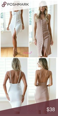 NEW ARRIVAL!! Sexy  Solid Split Bodycon Woman Dress. Perfect for this summer!! boutique Dresses Midi