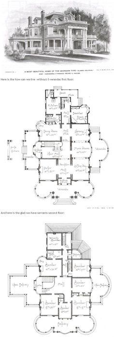 Georgian Home by George F Barber. 6 1/2 chambers. 1 bath
