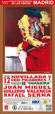 Bullfighting tickets. Tickets for bullfights in Madrid and Sevilla: Cartel 12 junio Las Ventas