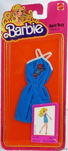 BARBIE BEST BUY FASHIONS DRESS #3637 NRFP MINT CONDITION 1980 Mattel, Inc. 3+ | eBay