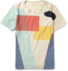 FolkPrinted Slub Cotton T-Shirt|MR PORTER
