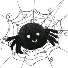 knit spider free halloween pattern - Free Halloween Knitting Patterns