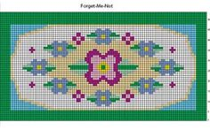 Talking Crochet ... Forget-Me-Not Rug