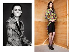 Ewa Morka tartan collection for winter 11/12 photo: Michal Greg