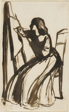 Elizabeth Siddal painting, Rossetti, pen and ink