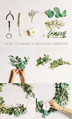 DIY Wedding Wreath. So beautiful for the chapel doors! Love that it's customizable too - choose flowers to match your color