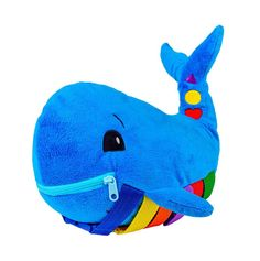 Persevering Baby Plush Doll Educational Toy Set Whale Shape Plush Toy For Children Kids Cute Sophisticated Technologies Dolls & Stuffed Toys Movies & Tv