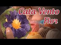 Flor Cata Vento em crochê (passo a passo) - Cristina Luriko - YouTube