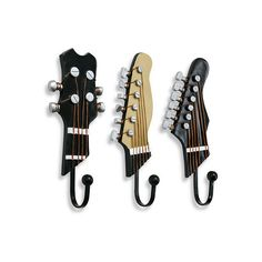 Guitar Hooks (Set of 3) ($20) found on Polyvore