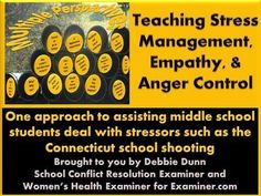Stress management : Middle school lesson plan: Teaching stress management empathy & anger cont