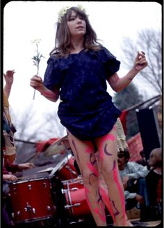 Miss Pamela at a Love-In at Griffith Park, 1967. Photo by Waldo Nilo.
