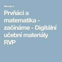 Prvňáci a matematika - začínáme - Digitální učební materiály RVP Boarding Pass