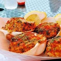 """Stuffies, Rhode Island and Massachusetts  The easiest way to order a stuffed Quahog clam in southern New England — avoiding the """"is it QWA-hog or KO-hog"""" argument — is to ask for a """"stuffie,"""" which typically comes piled high with a mixture of chopped clam, sausage, bread crumbs, and herbs"""