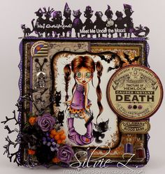 Hello,  Today, I'd like to share a card featuring Saturated Canary Zombie Niamh digi stamp. I so love this digi (but hey, I love all SC digi...