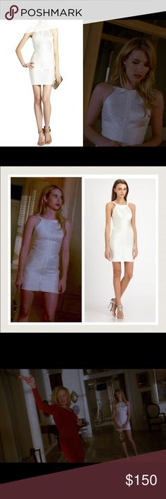 ⚡️LABOR DAY SALE BCBG Dress seen on Emma Roberts Brand new dress from BGBGMAXAZRIA made famous by Emma Roberts in American Horror Story. Purchased it for $338 but never wore it 💔😭 Please refer to BCBG's website for sizing as their measurements do run smaller than others. BCBGMaxAzria Dresses Mini