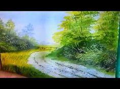 Как нарисовать пейзаж поэтапно гуашью/How to draw a landscape step by st...