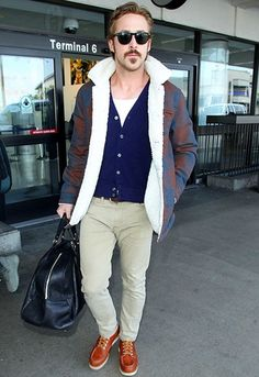 Ryan Gosling at LAX airport