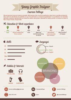 Curriculum Vitae - Infographie. by Laureen Delhaye, via Behance