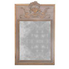 Pierglass Louis XVI dark gray and gold patina wood shabby chic