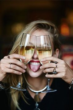 """""""there comes a time in every woman's life when the only thing that helps is a glass of champagne."""