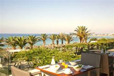 Having breakfast with a view Cyprus Hotels, Outdoor Furniture Sets, Outdoor Decor, Sun Lounger, Patio, Breakfast, Beautiful, Home Decor, Morning Coffee