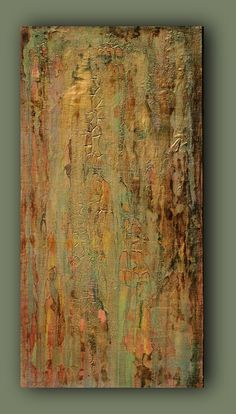 Original Acrylic Abstract Metallic Textured by AmyNealArtStudio