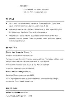 17 Best Sample Resume Format Images Good Manners Dining