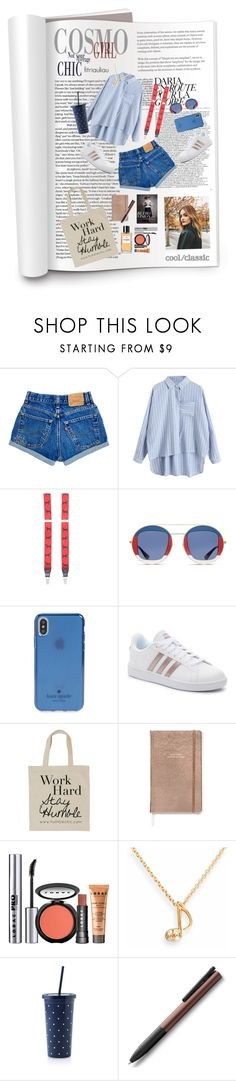 Another Street Style by fitriauliau on Polyvore featuring adidas, Humble Chic, SOPHIE MILLER, Superdry, Kate Spade, Saddlebred, LORAC, Chanel and Vision