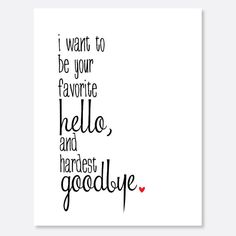 Favorite Hello Hardest Goodbye Card by uluckygirl on Etsy