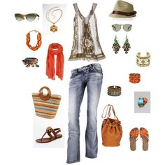 One simple outfit - ENDLESS accessories!!!