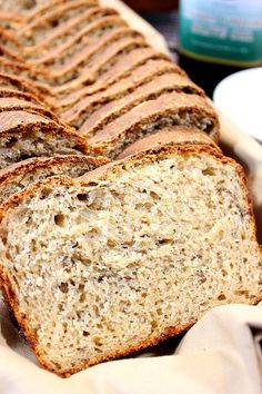 Caraway Cheese Batter Bread is loaded with three kinds of cheese, lots of spicy caraway seeds and a healthy blend of whole wheat and all-purpose flour. - Kudos Kitchen by Renee