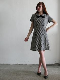1960s mod houndstooth dress from @Vera Vague