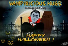 Surprise your loved ones with some Vampiricious Hugs, this Halloween ! They will love it! #Halloween #HalloweenHugs #Vampiricious #HalloweenGreetings #Halloweenegreetings #HalloweenEcard #HalloweenWishes #Halloween2020 Halloween Wishes, Halloween Music, Halloween Greetings, Halloween Jack, Creepy Halloween, Halloween Night, Halloween 2020, Halloween Pumpkins, Happy Halloween