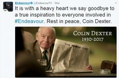 Colin Dexter, author of the Inspector Morse series, died at his home in Oxford this morning, his publisher Macmillan has said. Inspector Morse, Heavy Heart, Rest In Peace, Dexter, Author, Sayings, Dexter Cattle, Lyrics, Writers