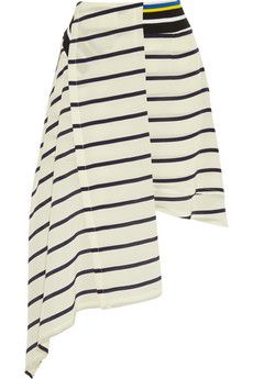 Preen by Thornton Bregazzi Turkana striped silk crepe de chine skirt | NET-A-PORTER