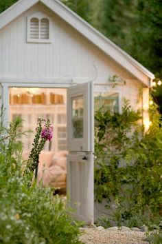 A she-shed is the perfect way to create a relaxing outdoor living spot. (Photo courtesy of Courtney Allison/The French Country Cottage)
