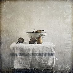 Pears under grunge by Paul Grand
