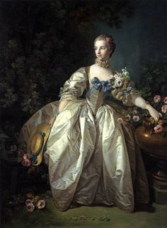 """Madame Berger as La Belle Jardinière"" by François Boucher (1766)"