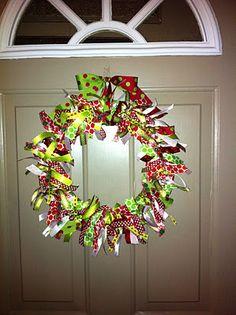 What Makes Savanah Smile...:Ribbon Wreath
