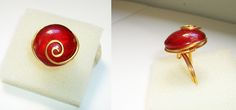 Adjustable ring with murano