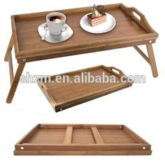 Bamboo Folding Breakfast Lap Tray Over Bed Wood Table Stand Kitchen Wooden Desk Laptop Tray Table, Bed Tray Table, Lap Tray, Diy Table, Table Desk, Wood Tray, Wood Table, Bed Tray Diy, Diy Projects