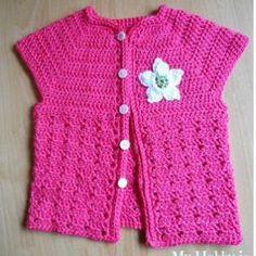 Toddler Short Sleeve Cardigan | AllFreeCrochet.com