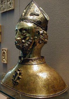 Buste reliquaire de saint Martin. XIIe.